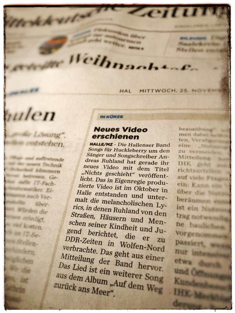 Mitteldeutsche Zeitung, 25.11.2020